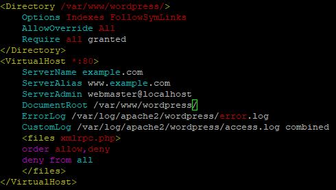 Linode Marketplace WordPress Apache Configuration File