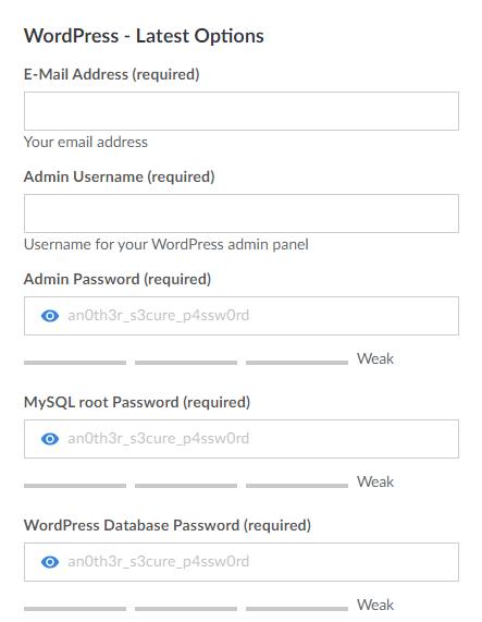 Linode Marketplace WordPress Options